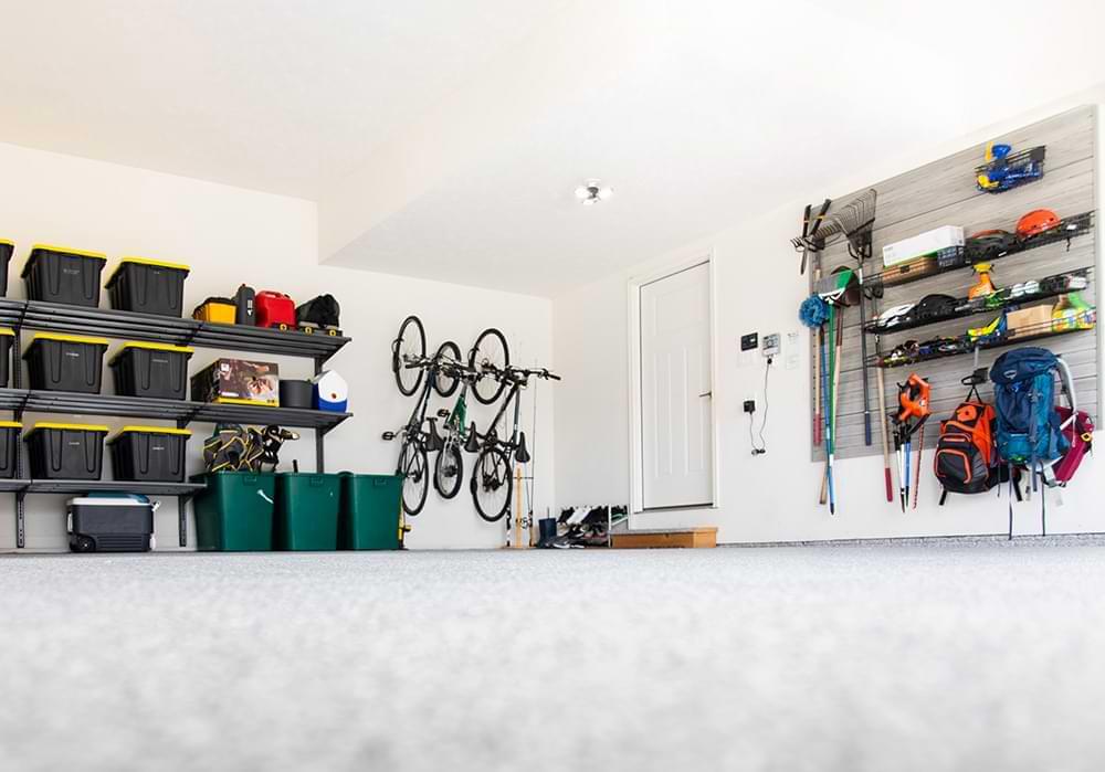 Garage organization slat wall & accessories
