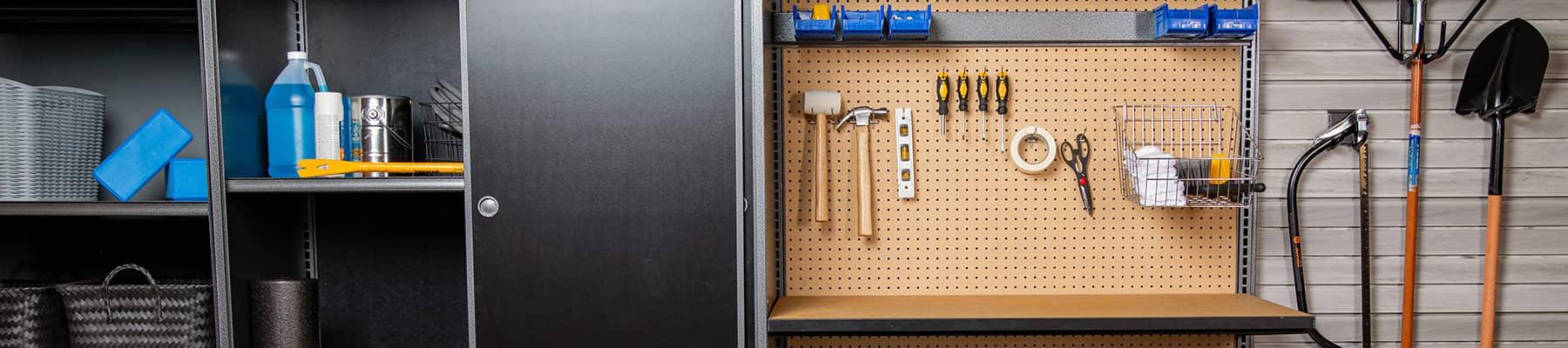 Garage slot wall