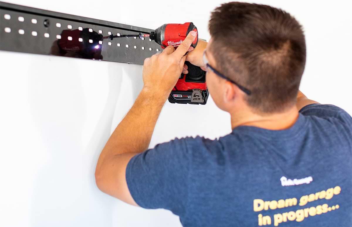 Garage Track System installation process