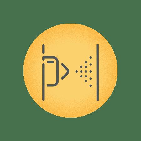 Powder-coated steel icon