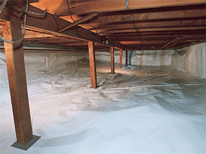After photo of CleanSpace® in a dirt crawl space in California