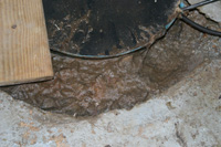 Sump Pump Clogged with Mud in Congress, OH