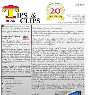 TraVek Inc Tips and Clips Newsletter June 2021