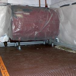 Delta MS Underslab Vapor Retarder installation