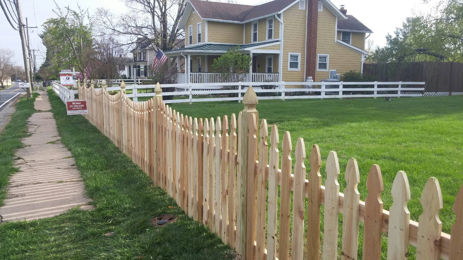 wood fence installation in Sterling