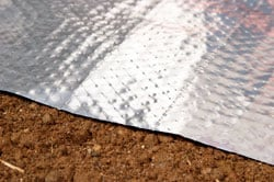 Insulating crawl spaces with a radiant heat barrier and vapor barrier