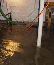 Sump Pump that Lost Power in a Leaf Rapids basement