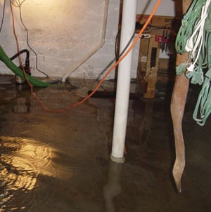 Foundation flooding in a Rossburn, Manitoba home