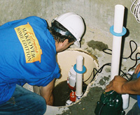 installing a sump pump and backup sump pump system in Brandon