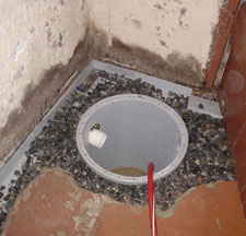 A Sump Pump Installation in Progress in Highrock