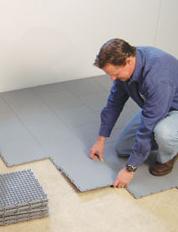 Installing a Waterproof Basement Sub Floor in Swan River