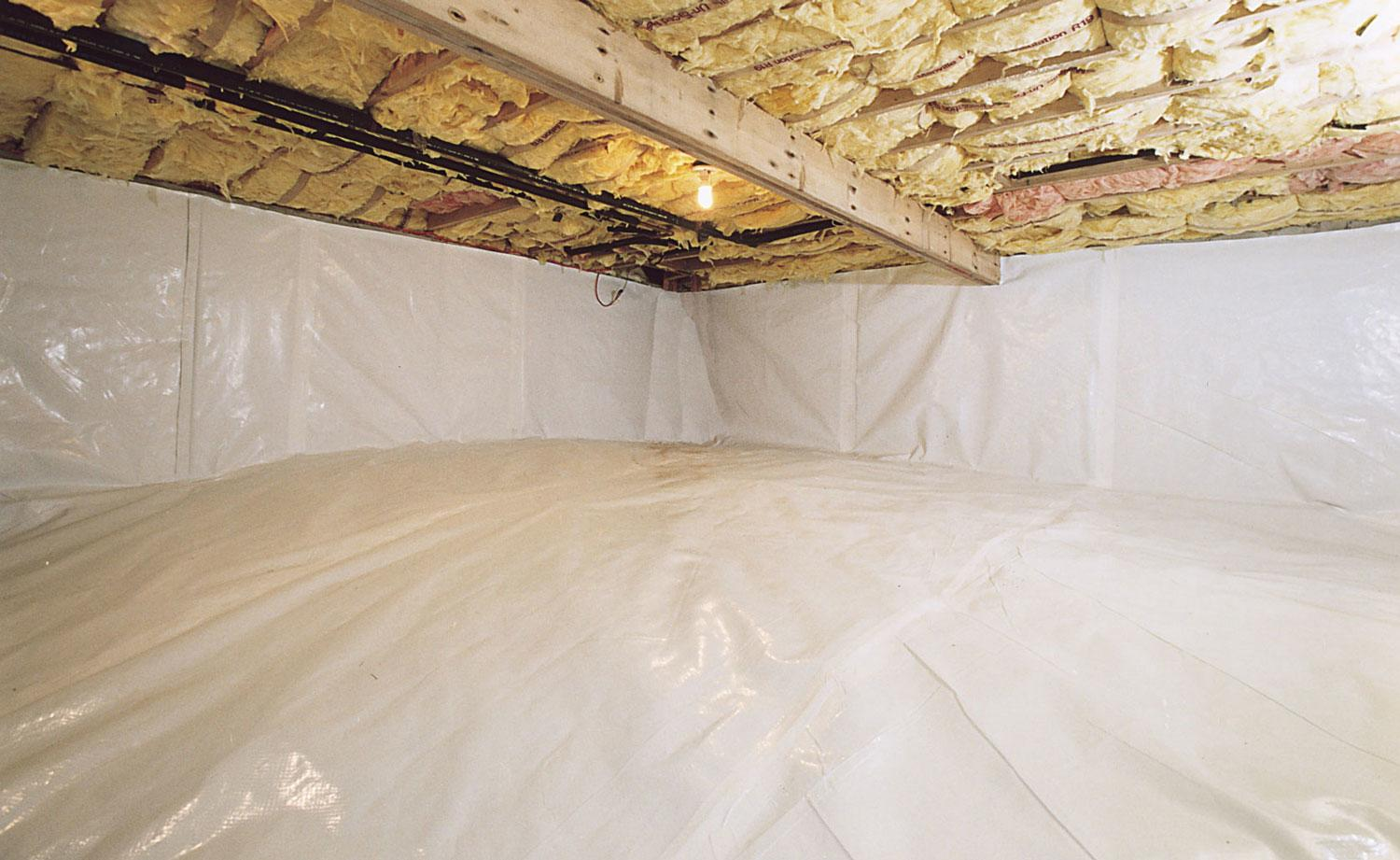 A clean, encapsulated crawl space