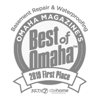 2019 Best of Omaha - First Place in Basement Repair and Waterproofing, and Mudjacking