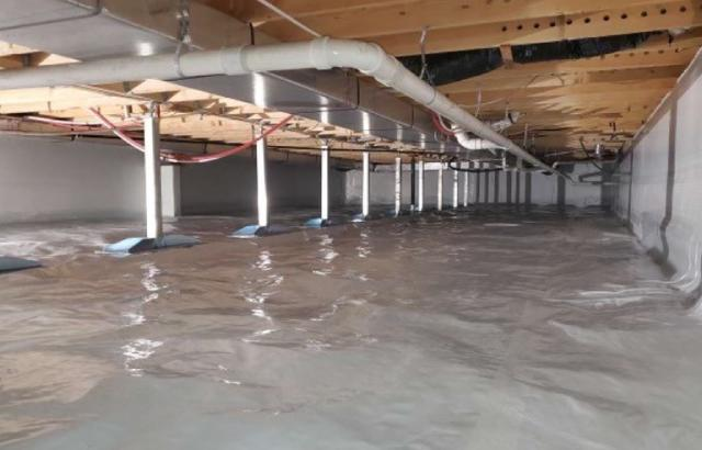 Wet Crawl Space Transformed in Admire, Kansas