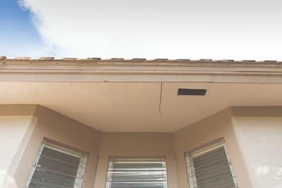 Foundation crack on roof