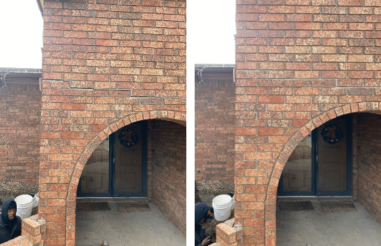 Helical Piers Fix Cracked Bricks in Valley Center, KS