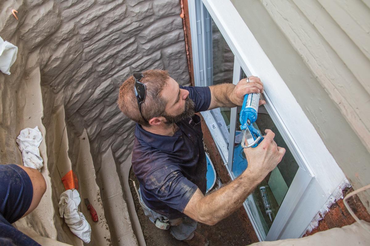 Installing egress window