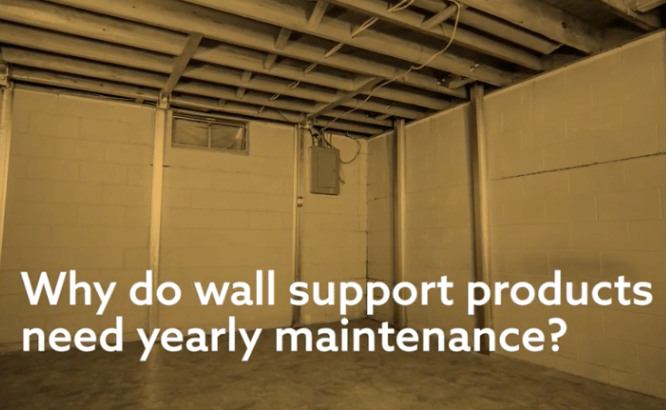 Why do foundation wall repair products need yearly maintenance?