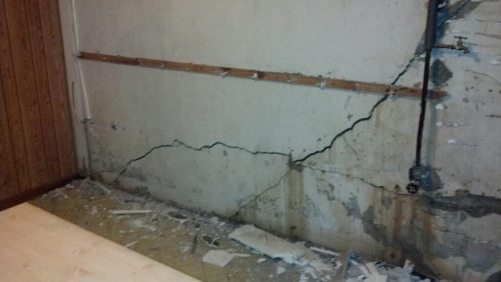 Kansas City, MO Bowed Wall Repair Using Steel Beams