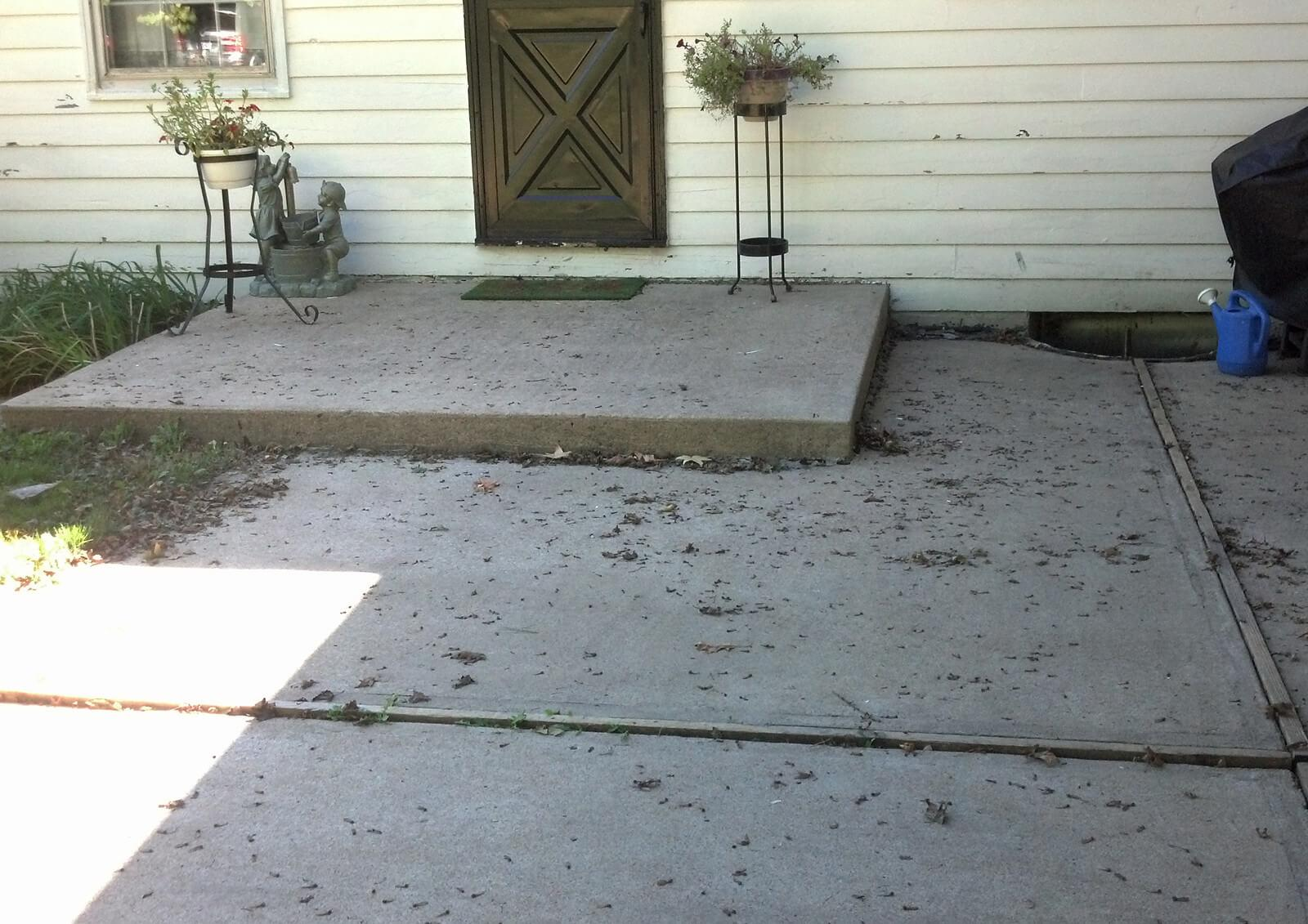 Residential Mudjacking Project  in Grain Valley, MO