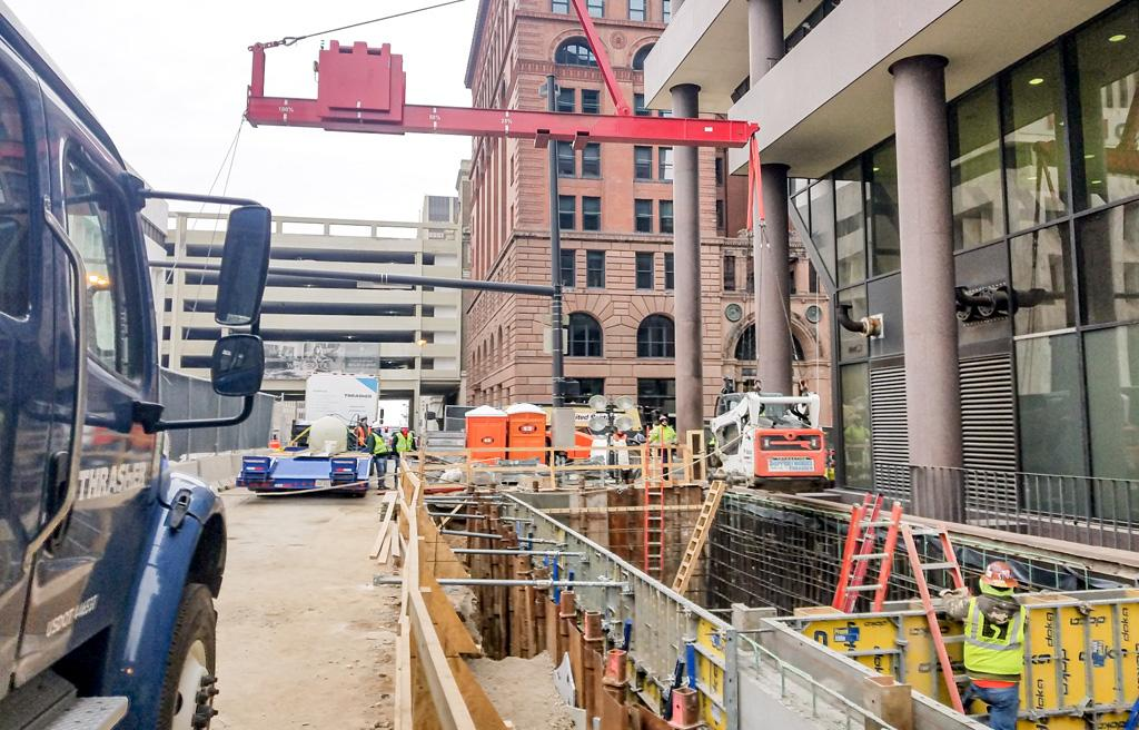New Construction/ Retrofit Helical Piles at 1623 Farnam (Whiting-Turner)