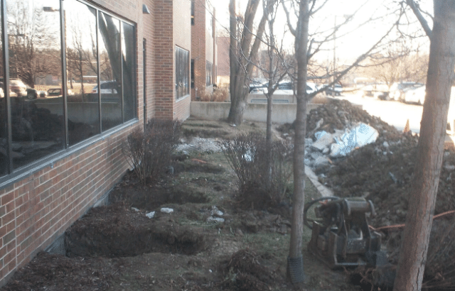 Commercial Foundation Piering Project in Overland Park, KS