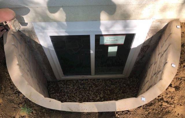 Egress Window Installed in Basement Bedroom - Leawood, KS