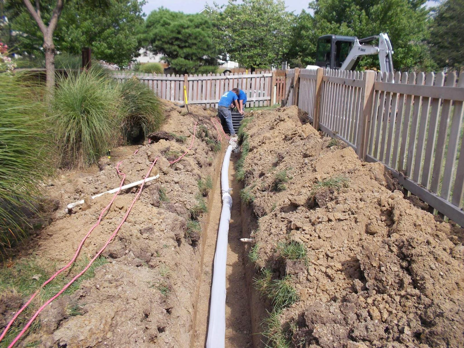 French Drain Installed in Lee's Summit, MO