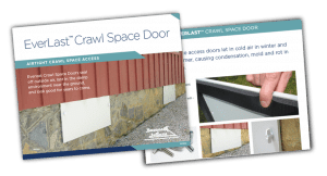 EverLast Crawl Space Door and Protection Cover