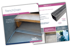 Trench Drain Basement Surface Drainage System