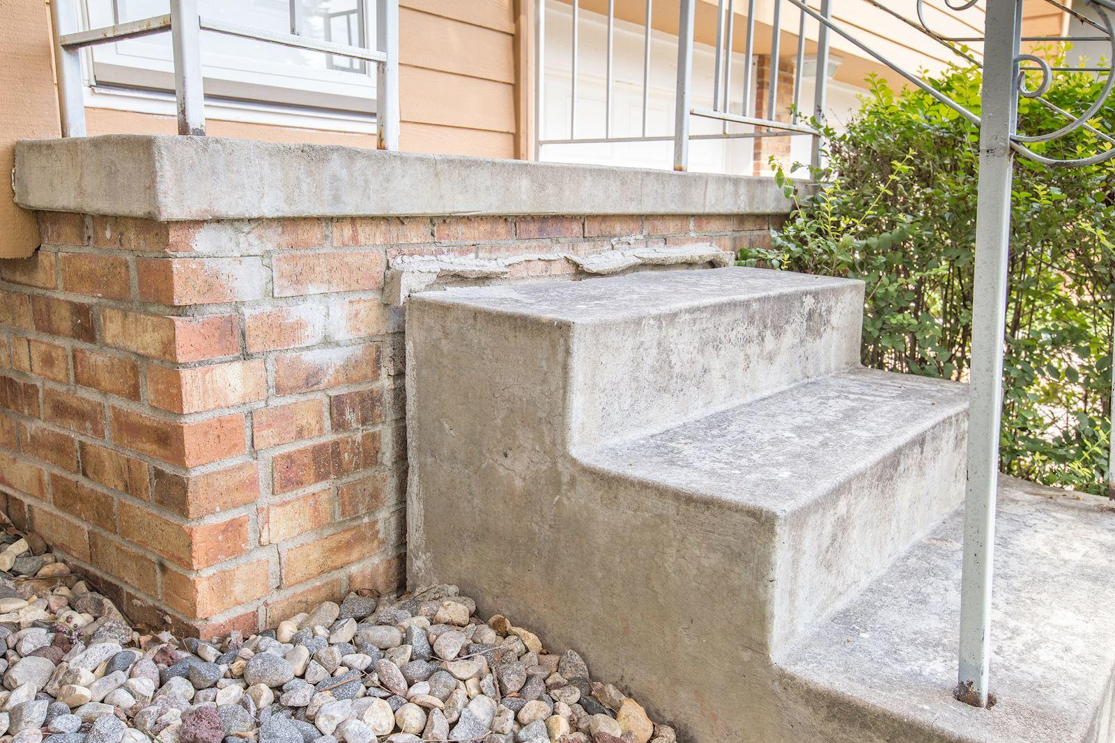 Front Steps pulled away from house