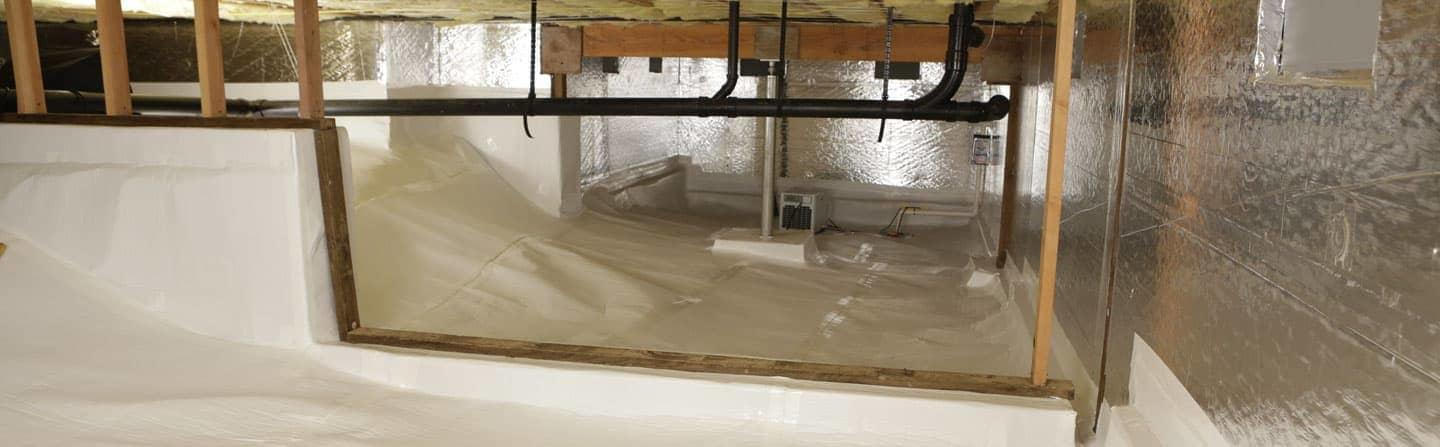 thermal insulation in crawl space