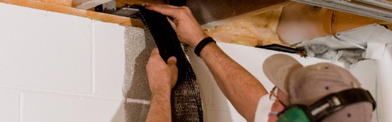 foundation repair - wall straps