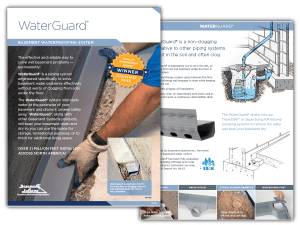 WaterGuard Basement Waterproofing System