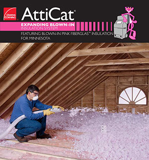 Owens Corning AttiCat expanding blown-in insulation system