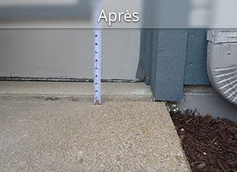 Réparation de trottoir hors niveau au Montréal
