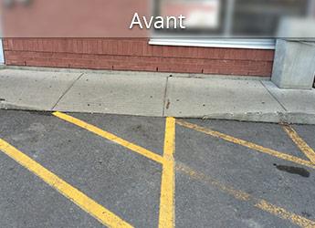 Trottoir hors niveau au Montréal