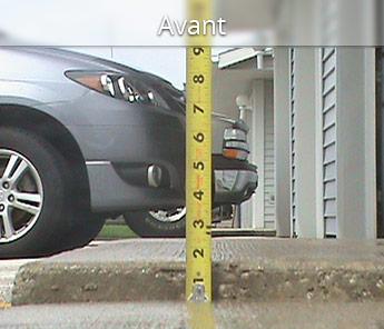 Cet exemple fait voir un cas où le simple fait de garer une voiture dans l'entrée de garage s'avérait quasi périlleux.