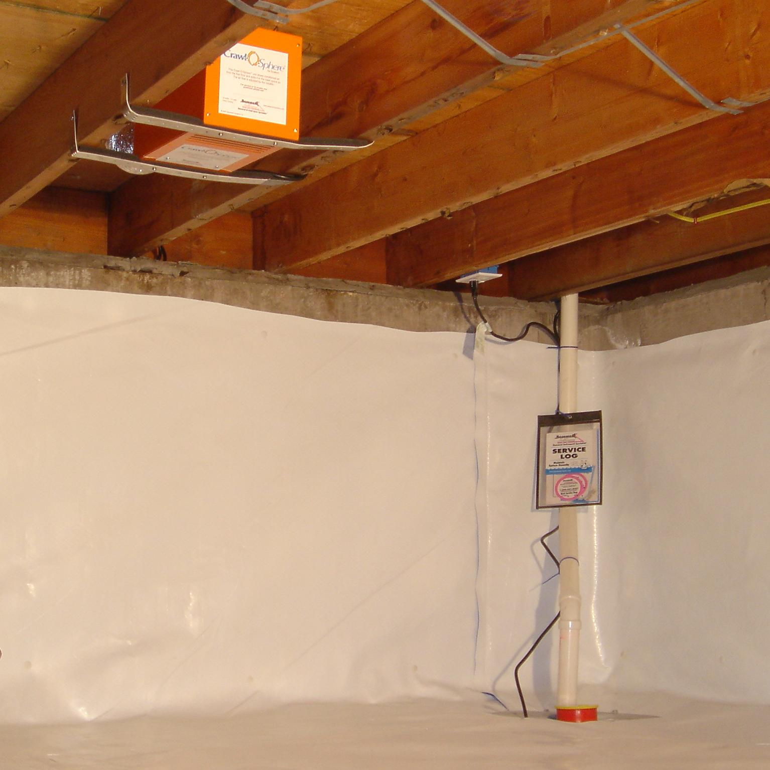 dried crawl space by our waterproofing contractors in Sumittville, TN