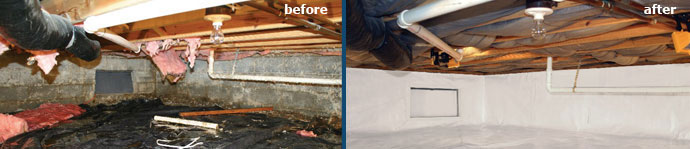 Wet Crawl Space Repair in TN