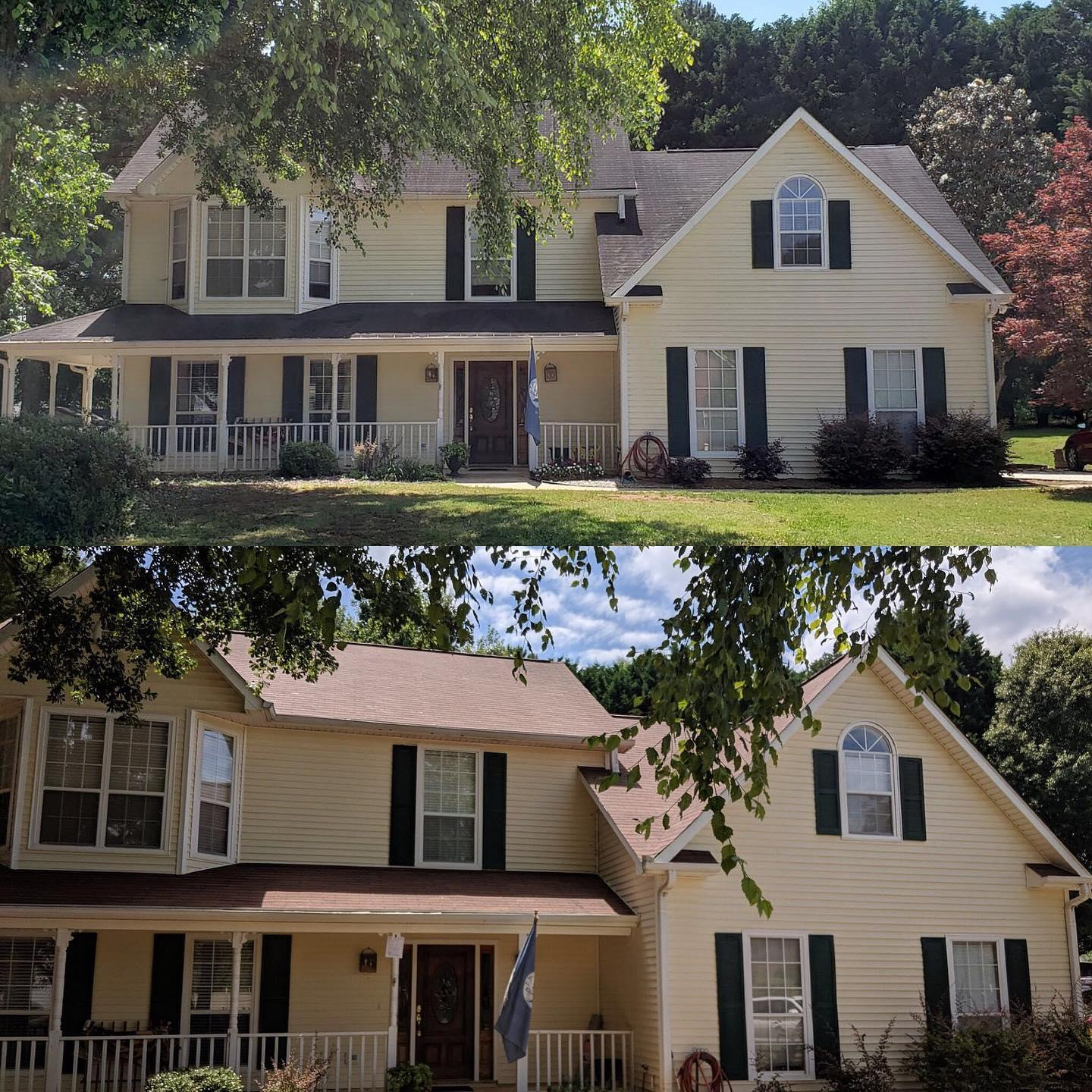 Before & After Roof Install in Newman GA