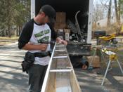 Installing aluminum gutter braces