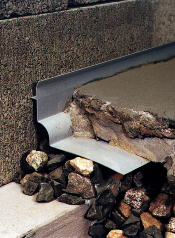foundation footing waterproofing drain system
