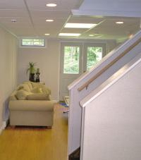 Renovated basement staircase in Eau Claire