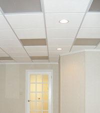Basement Ceiling Tiles in a Wisconsin basement