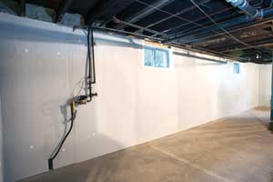 Foamax rigid foam insulated basement walls