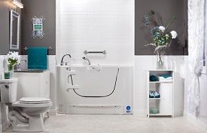 Accessible walk-in bathtub