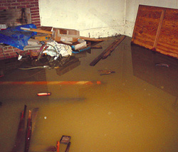 Wet, Leaky, Flooded Basement in Cold Lake