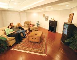 wood basement floor in Edmonton