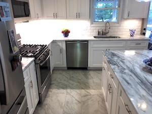 Custom white cabinets from Wolf Home Products